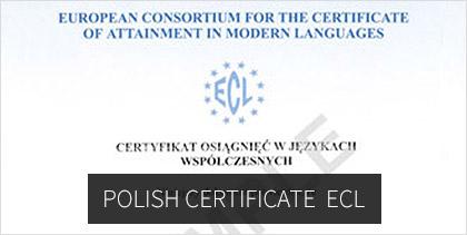 polish certificate ECL