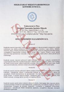 Europejski certyfikat z języka polskiego jako obcego